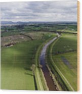 Wyre From The Air Wood Print