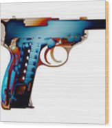 X-ray Art Of Walther P38 No.2 Wood Print