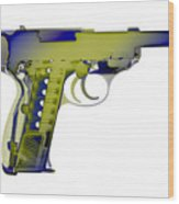 X-ray Art Of Walther P38 No.5 Wood Print