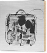 X-ray Of Suitcase Wood Print by Science Source