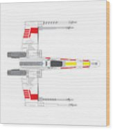 X-wing Fighter Wood Print