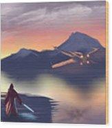X-wing On The Horizon Wood Print