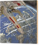 10105 X-wing Starfighter Wood Print
