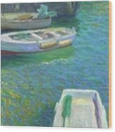 Xabia Harbour With Fishing Boats Wood Print