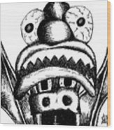 Xavier's Clown Hat Wood Print