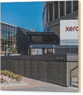 Xerox Tower Entrance Wood Print