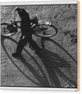 Xian Bike Lines Wood Print