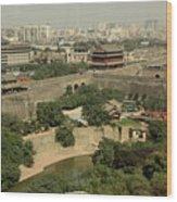 Xi'an City Wall With Skyline Wood Print