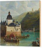 Xixth Century French School Pfalzgrafenstein Castle Wood Print