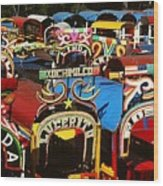 Xochimilco Wood Print