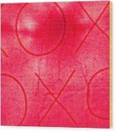Xoxo 1 Wood Print