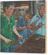Xylophone Players Wood Print by Jim Barber Hove