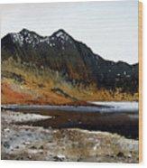 Y Lliwedd Ridge From Lake Llyn Llydaw Wood Print