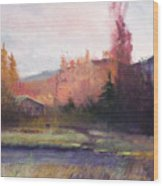 Yaak Cabin Wood Print