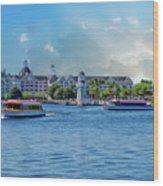 Yacht And Beach Club Walt Disney World Wood Print