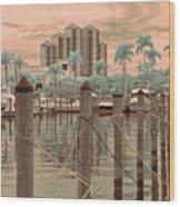 Yacht Basin Wood Print