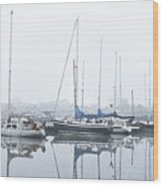 Yachting Club Wood Print