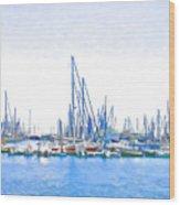 Yachts Simon Wood Print by Jan Hattingh