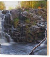 Yacolt Falls In Autumn Wood Print