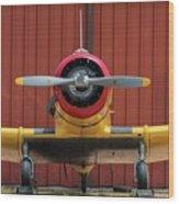 Yale And Hangar - 2018 Christopher Buff, Www.aviationbuff.com Wood Print