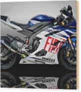 Yamaha Rossi Rep Wood Print