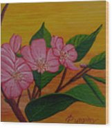 Yamazakura Or Cherry Blossom Wood Print
