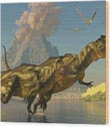 Yangchuanosaurus Dinosaurs Wood Print