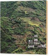 Yangtze Hillside Wood Print