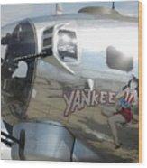 Yankee Lady Nose Art Wood Print