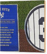 Yankee Legends Number 3 Wood Print