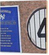 Yankee Legends Number 4 Wood Print