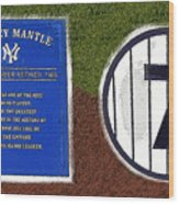 Yankee Legends Number 7 Wood Print