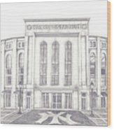 Yankee Stadium Wood Print by Juliana Dube