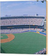 Yankee Stadium Ny Yankees V. Tampa Wood Print