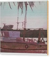 Yankee Town  Fishing Boat Wood Print