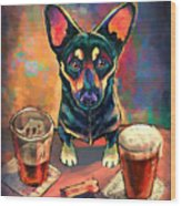 Yappy Hour Wood Print