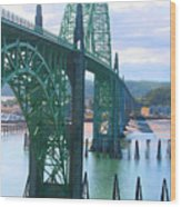 Yaquina Bay Bridge Br-9002 Wood Print