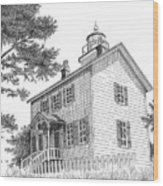 Yaquina Bay Lighthouse Wood Print