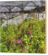 Yaquina Bay Roses Wood Print