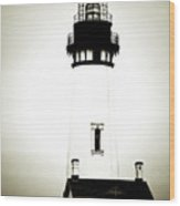 Yaquina Head Light - Haunted Oregon Lighthouse Wood Print by Christine Till