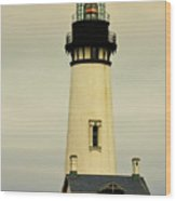 Yaquina Head Lighthouse - Newport Or Wood Print