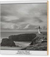Yaquina Head Lighthouse - With Border Wood Print