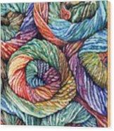Yarn Wood Print by Nadi Spencer