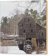 Yates Mill In Winter Wood Print by Kevin Croitz