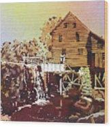 Yates Mill Park Wood Print