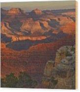 Yavapai Point Sunset Wood Print