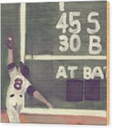 Yaz And The Green Monster Wood Print