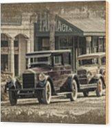 Ybor City Prop Cars Wood Print