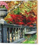 Ye Olde Garden Bench Wood Print