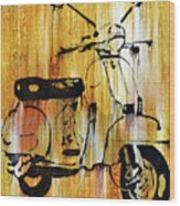 Yeah It's A Vespa Wood Print